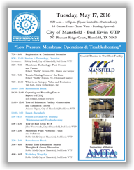 SCMA Workshop - Mansfield, TX - May 17, 2016 @ City of Mansfield WTP | Mansfield | Texas | United States