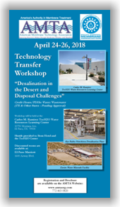 AMTA/SCMA Jt. Technology Transfer Workshop - El Paso, TX - April 24-26, 2018 @ El Paso Marriott | El Paso | Texas | United States