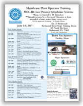 Membrane Plant Operator Training – MOC III: Low Pressure Membrane Systems - Richmond, TX - June 6-8, 2017 @ City of Richmond, Richmond Street Dept. Training Room | San Antonio | Texas | United States